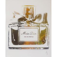 320f3093f34d Miss Dior Perfume Bottle Gold by ISeeNoise on Etsy
