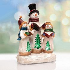 DC COLLECTION LED Snowman Family