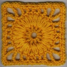 Wagon Wheel Square: free pattern