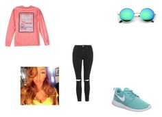"""""""Sweet Tea"""" by amariaprice on Polyvore featuring NIKE and Topshop"""