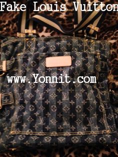 Fake Louis Vuitton purse We just authenticated a Louis Vuitton bag as FAKE!  Our authenticators pay utmost attention to minute differences between a fake and original product.