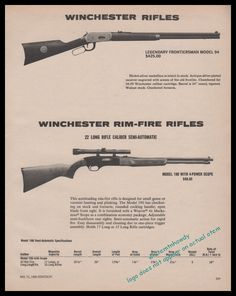 Buy 1980 WINCHESTER 94 Legendary Frontiersman Rifle AD: GunBroker is the largest seller of Other Collectibles Collectibles & Militaria All Winchester Firearms, Varmint Hunting, Long Rifle, Plein Air, Ads, Advertising, Pistols, Rifles, Knives
