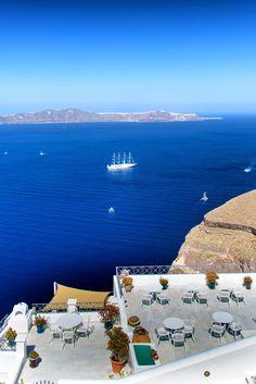 Firostefani blue, Santorini, Greece