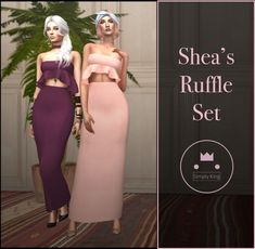 Simply King - Shea's Ruffle Set for The Sims 4