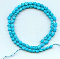 Real Sleeping Beauty Turquoise Chip Beads Blue 16 Inch Strand