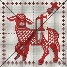 Cat Cross Stitches, Cross Stitching, Cross Stitch Patterns, Altar Cloth, Christian Symbols, Cross Stitch Love, Needlepoint, Hand Sewing, Needlework