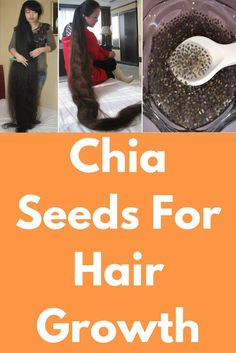 Chia Seeds For Hair Growth Today I will show one miracle hair growth remedy which chia seeds. Chia seeds contains of protein that helps our hair to grow faster. Copper and Zinc are important minerals which are found in chia seeds. Copper helps in cutt Castor Oil For Hair Growth, Hair Mask For Growth, Vitamins For Hair Growth, Hair Remedies For Growth, Hair Growth Oil, Natural Hair Growth, Natural Hair Styles, Biotin Hair Growth, Hair Vitamins