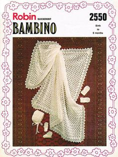 Items similar to PDF Vintage Baby Knitting Pattern Shawl Blanket Christening Layette Bonnet Bootees Mittens Robin 2550 BAMBINO Lacy Pram Set Pretty on Etsy Baby Knitting Patterns, Baby Patterns, Crochet Patterns, Vintage Baby Toys, Pram Sets, Baby Bonnets, Baby Christening, Afghan Blanket, Vintage Knitting