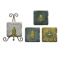 Maria Luisa Boutique | ML by Maria Luisa - Creative Co-op Square Resin Coasters…