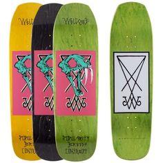 Welcome Skateboards <br> Welcome Saberskull 2 on Banshee 90 Deck<br> Black Stain 9x32.5