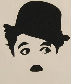 everybody recognize this drawing as Charlie Chaplin Illustration, Charlie Chaplin, Silhouette Art, Scroll Saw Patterns, Arte Pop, Stencil Art, String Art, Caricature, Painted Rocks