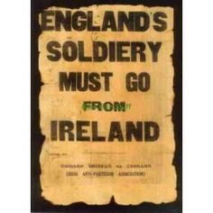 Englands Soldiery Must Go From Ireland - Irish Republican Army Poster