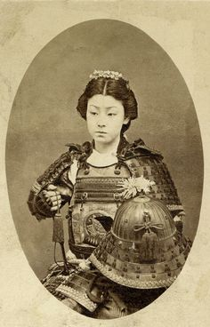 Rare photo of an onna-bugeisha - the female equivalent of a samurai.