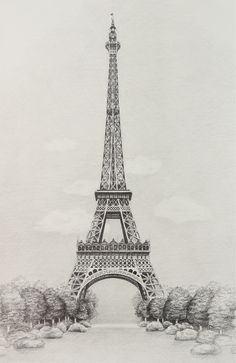 Eiffel Tower by Yellow Bird Art