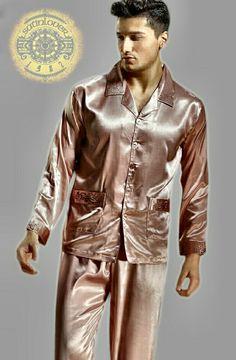 Mens Silk Pajamas, Satin Pajamas, Love People, Nightwear, Leather Jacket, Photos, How To Wear, Jackets, Fashion