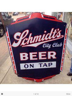 Schmidts Beer Sign