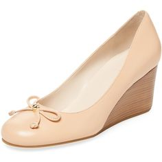 Cole Haan Women's Elsie Lace 65mm Leather Wedge - Cream/Tan, Size 11 ($80) ❤ liked on Polyvore featuring shoes, sandals, leather wedge shoes, tan wedge sandals, cole haan sandals, tan sandals and cole haan shoes