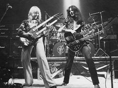 "Rush "" A modern-day warrior Mean mean stride, Today's Tom Sawyer Mean mean pride "".         Ahhhh,those double necks....."