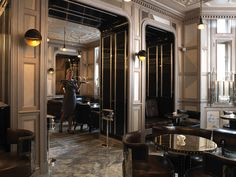 Connaught Bar London Mural composition by Pierre Bonnefille for David Collins Luxury Restaurant, Restaurant Lounge, Bar Lounge, Restaurant Interior Design, Studio Interior, David Collins, Luxury Interior, Interior Architecture, French Interior