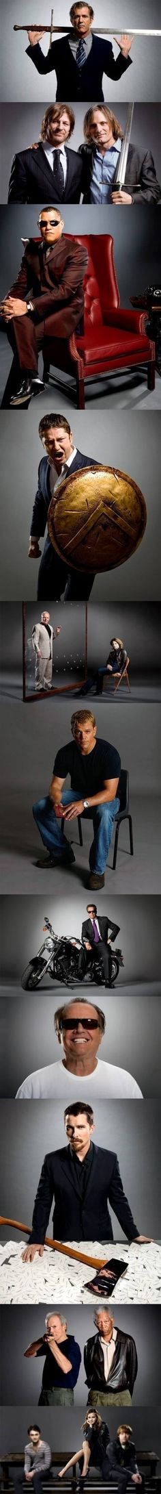 Famous actors recreating pictures from movies. I LOVE this!