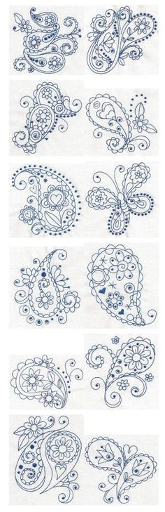 Paisley Blues ~ Tattoo ideas by patylsantos