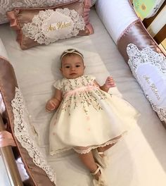 Likes, 140 Kommentare – AMORECO – Exclusive Store (Amoreco Infantil) zum … – Baby Kleidung Baby Girls, Baby Girl Baptism, Baby Girl Princess, Baby Shower Dresses, Little Girl Dresses, Flower Girl Dresses, Baby Outfits, Kids Outfits, Toddler Dress
