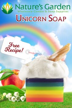 Free Unicorn Soap Recipe by Natures Garden