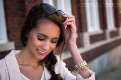 Pressing Flowers Blog | Alexandra Lee Photography | Pink blazer, tortoise shell framed sunglasses. Spring outfit 2015