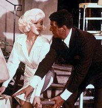 Dean Martin & Marilyn Monroe on the set of Something's Got To Give, 1962.