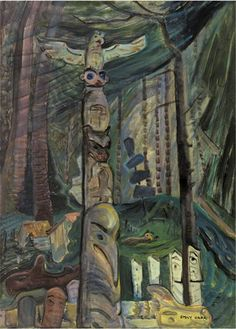 Alert Bay Burial Ground. 1930s. Emily Carr. Collection – Audain Art Museum