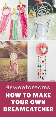 Dromenvanger maken diy. If your child is having trouble sleeping you are going to love these tutorials which show you how to make a dreamcatcher! We even have some they can make themselves.