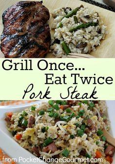 Grill Once Eat Twice: Pork Steak :: Recipes on PocketChangeGourmet.com