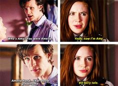 I think she changed to Amy because of the Doctor, because he called it a fairy tale, and her fairy tale didn't come back