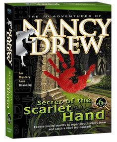 Nancy Drew: Secret of the Scarlet Hand - PC Her Interactive. The famous teen detective will unravel a series of robberies at a famous museum! An internship gives Nancy a crash course in Mayan culture. But when the artifacts go missing and the only clue is a mysterious scarlet handprint, she's on the case. Solve a series of thefts and unlock a Mayan riddle, as the famous teenage detective! amazon.com 108 customer reviews 4.4 stars
