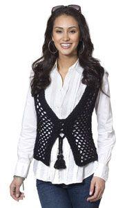 Janis Vest (free pattern, crochet)