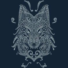 Wolf is a T Shirt designed by angoes to illustrate your life and is available at. - Wolf is a T Shirt designed by angoes to illustrate your life and is available at Design By Humans - Fenrir Tattoo, Norse Tattoo, Celtic Tattoos, Viking Tattoos, Tribal Wolf Tattoo, Wolf Tattoos, Tattoo Drawings, Body Art Tattoos, Sleeve Tattoos