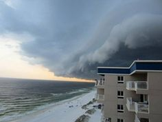 A thunderstorm over the Gulf of Mexico in Destin, Fla.