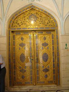 Mosque's doors in Damascus, Syria