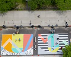 artists paints basketball court - Google Search