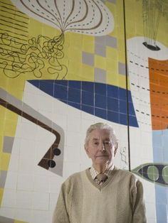 Carters Tiles - Reg Goodall who, in his younger days, spent a year tiling the floor of Lewis' department store. The image gives a good impression of the scale of the mural. Brick Flooring, Floors, Mosaic Tiles, Tiling, Virtual Museum, Tile Floor, Pottery, Department Store, Walls