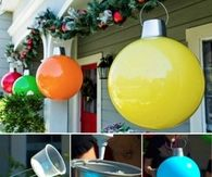 How To Make Large Christmas Ball Decorations