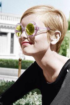 Outside sunglasses/styling