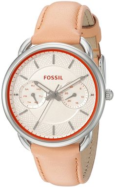 Fossil Women's ES3952 Tailor Multifunction Papaya Leather Watch * Details can be found by clicking on the image.