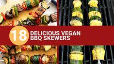 18 Delicious Vegan BBQ Skewers Teriyaki Tofu, Bbq Tofu, Vegan Bbq Recipes, Healthy Grilling Recipes, Bbq Skewers, Veggie Skewers, Grilled Vegetable Kabobs, Glazed Vegetables