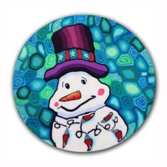 Kyle the Snowman Silly Milly Polymer Clay Cane