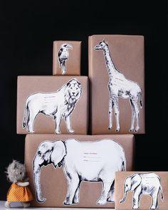 Safari Animal Gift Tags
