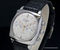 Glashütte Original Sixties Square Chronograph. Reference:  39-34-03-32-04. Stainless Steel. 41.35 mm x 41.35 mm.