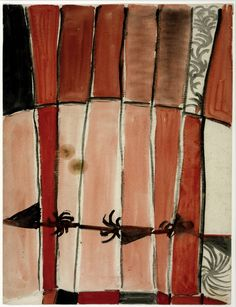 'Untitled Composition' (1954-56) by British Abstract painter Sir Terry Frost (1915-2003). Watercolor on paper, 570 x 438 mm. via the Tate