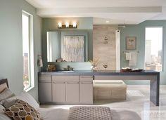 Photo Gallery For Photographers kraftmaid bathroom pictures KraftMaid Maple Slab Door In Pebble Grey contemporary bathroom
