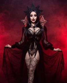 Female Vampire, Gothic Vampire, Vampire Queen, Vampire Fashion, Gothic Fashion, Hot Goth Girls, Gothic Girls, Bad Girls, Dark Beauty